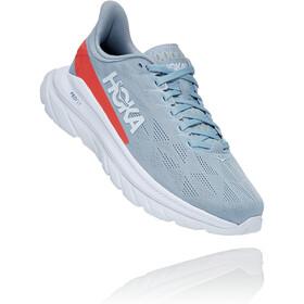 Hoka One One Mach 4 Shoes Women blue fog/hot coral
